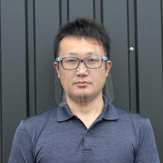 メガネ型 フェイスシールド【10個/1セット】