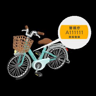 防犯登録代行サービス(既にお持ちの自転車の登録)