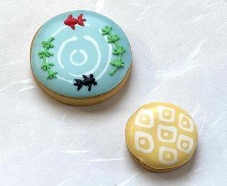 アイシングクッキー「金魚と和柄」