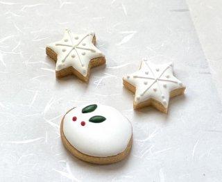 アイシングクッキー「雪うさぎと結晶」