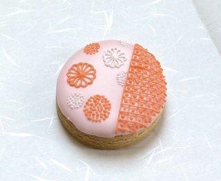 アイシングクッキー「和柄・もも色」