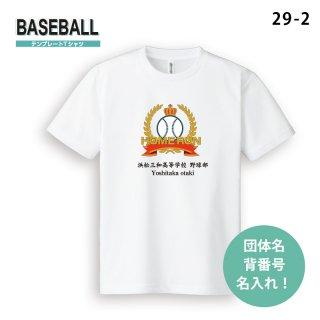 テンプレートTシャツ【野球/29-2】 1枚〜