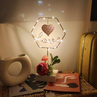 Floral LOVE LED/Pink