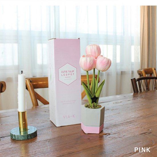 【WEB Special】キューティーチューリップポットLED/ピンク