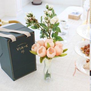 【SPECIAL GIFT】ブルームチューリップブーケLED/シャンパンピーチ(日本限定色)