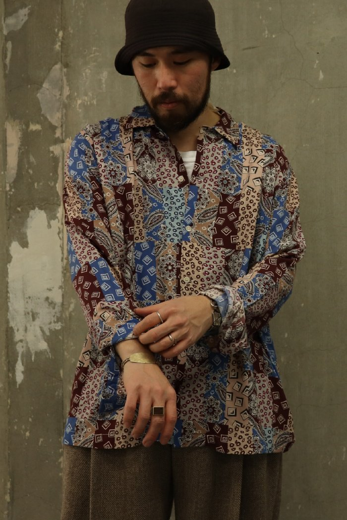 BODE【EASTERN PAISLEY PATCHWORK LONG SLEEVE SHIRT】
