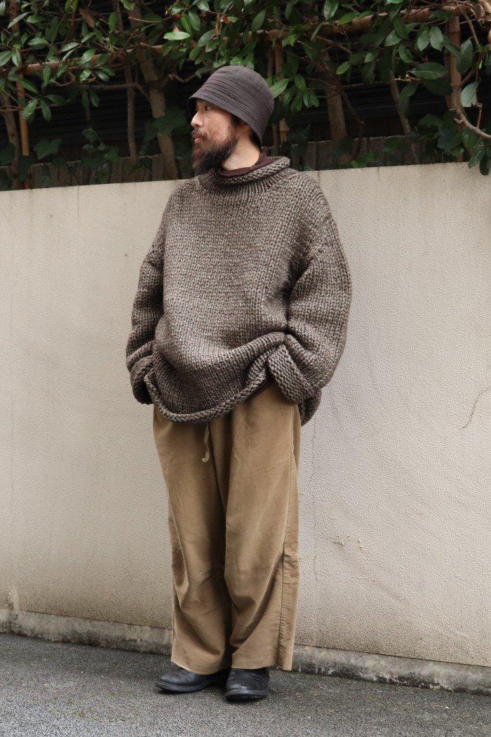 POSTELEGANT 【Alpaca Silk Hand knit High Neck 】