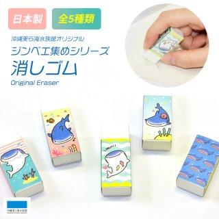 沖縄美ら海水族館オリジナル 消しゴム ジンベエ集めシリーズ(全5種)