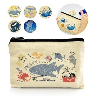 沖縄美ら海水族館オリジナル キャンバスポーチ(全5種)