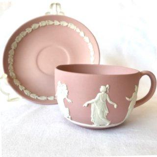 ウェッジウッド ジャスパー ティーカップ&ソーサー(ピンク)