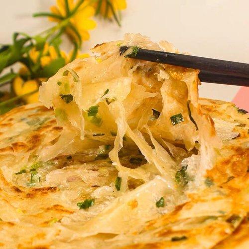 【冷凍】台湾手工葱酥抓餅(ネギパンケーキ5枚入り)