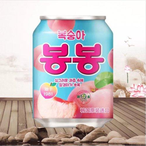 【韓国ジュース】おろし桃ジュース(缶)238ml