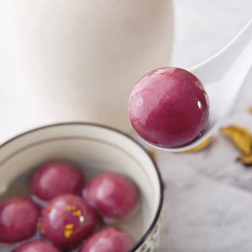 【冷凍】湯圓大王−紫薯胡麻湯圓320g(約20個入り)