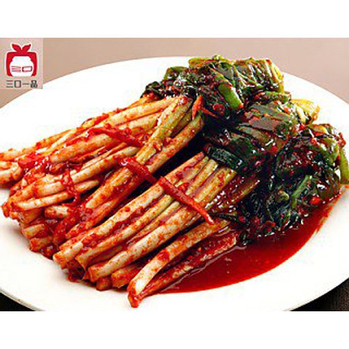 【三口泡菜】香葱泡菜−ネギキムチ415g (商品説明必読)