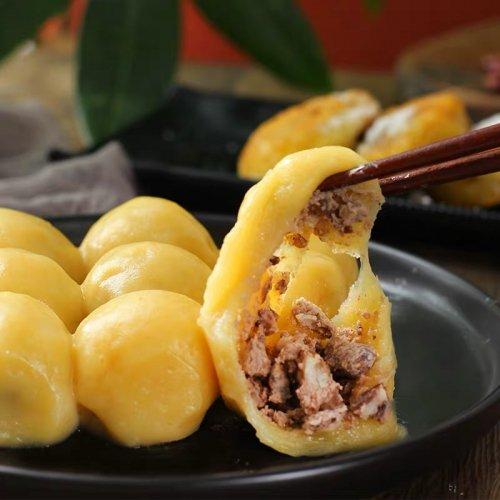 【冷凍】郷里香黄米麺粘豆包−小豆餡もちきび団子(12個入り)