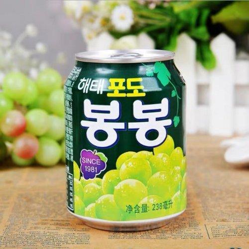 【韓国ジュース】葡萄ボンボンジュース(缶)238ml