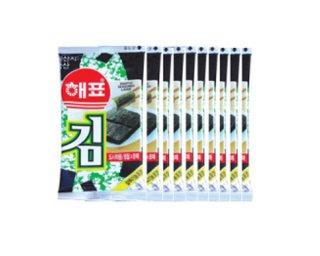 【韓国のり】ヘピョお弁当用のり(10パック入り)
