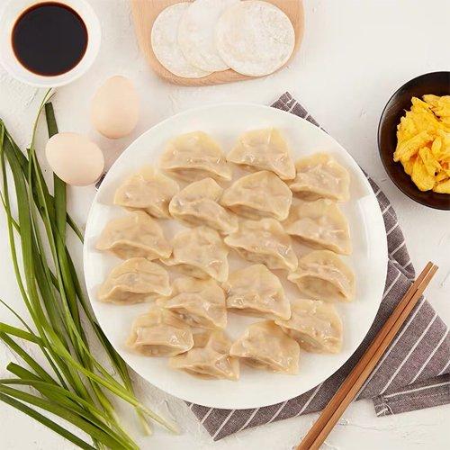 【冷凍】韮菜鶏蛋水餃子(卵入りニラ水餃子 )1kg