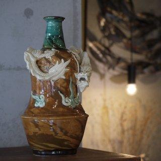 【限定一点限り】渡名喜瓶(となきびん)龍巻き【工房るい 小橋川 勇】