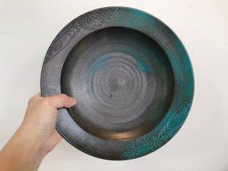紅型陶器(びんがたとうき)大皿
