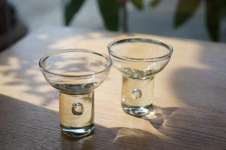 琉球ガラス 露ぬ玉ペアショットグラス【ガラス工房 てとてと】