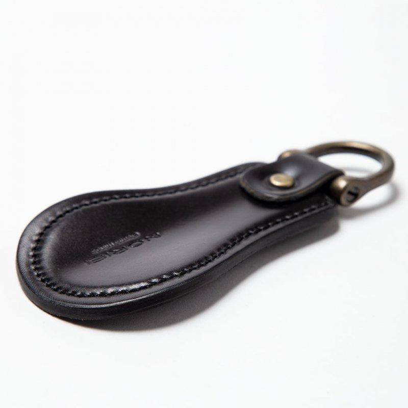 SHOE HORN KEY RING / BLACK - OILED CORDOVAN