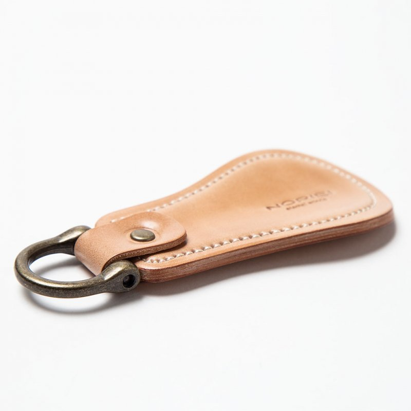SHOE HORN KEY RING / NATURAL - OILED CORDOVAN