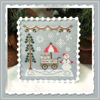 SNOW VILLAGE 11- SNOWMAN CONE CART