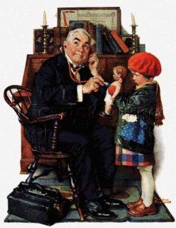 DOCTOR AND THE DOLL - NORMAN ROCKWELL