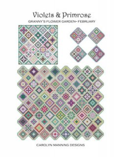 VIOLETS & PRIMROSE-GRANNY'S GARDEN FEBRUARY