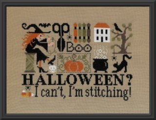 Halloween?  I can't, I'm stitching!