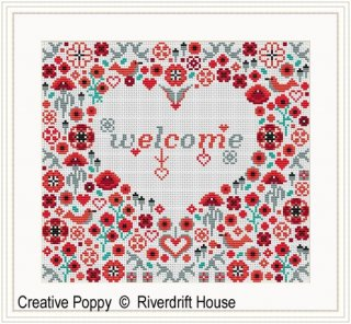 WELCOME POPPY HEART