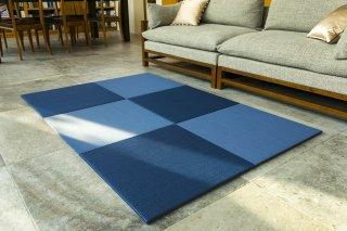 置き畳 OITOKO DESIGN ブルーフランス 76cm角