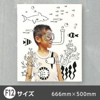 デザインキャンバス-線画イラスト-【F12】