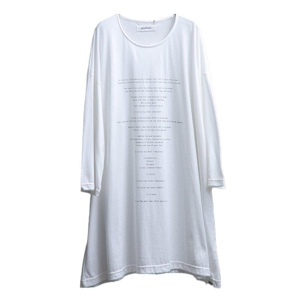 prasthana/  月魄 loosefit  t-shirts (WHT)