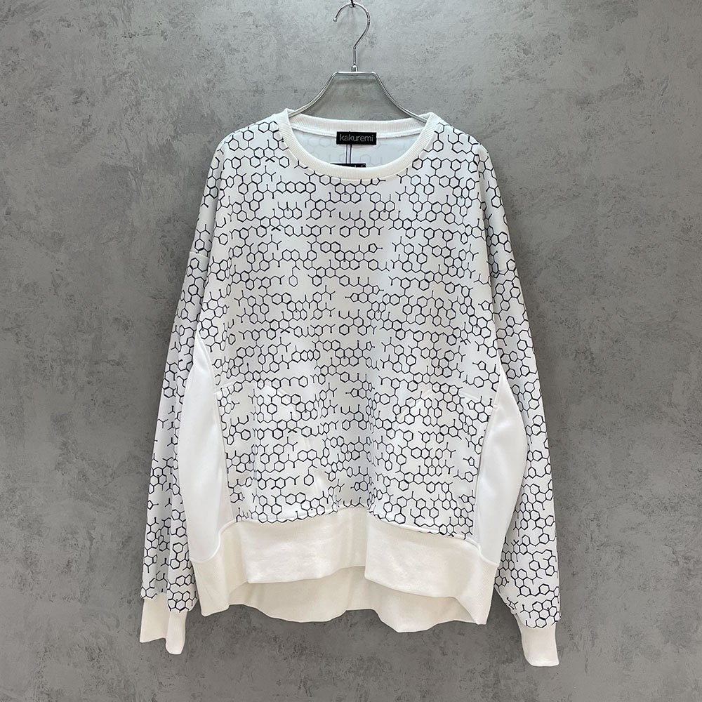 kakuremi / kagakushiki box sweat (WHT)