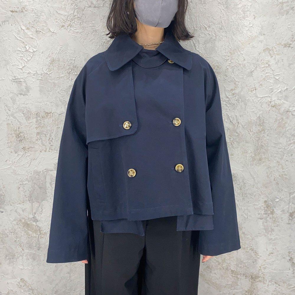 ReAdd / short trench coat  (NAVY)