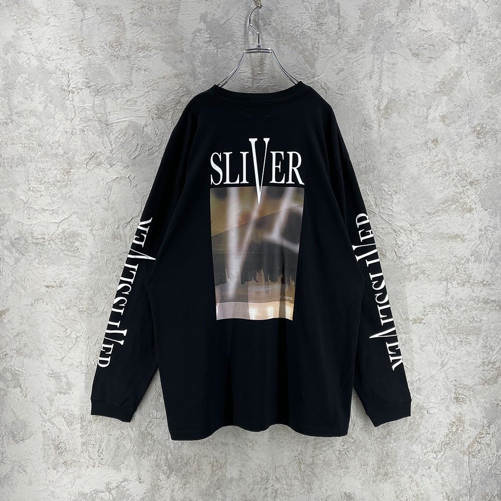 SUS by. SUSPEREAL/  SLIVER LONG TEE (BLK)