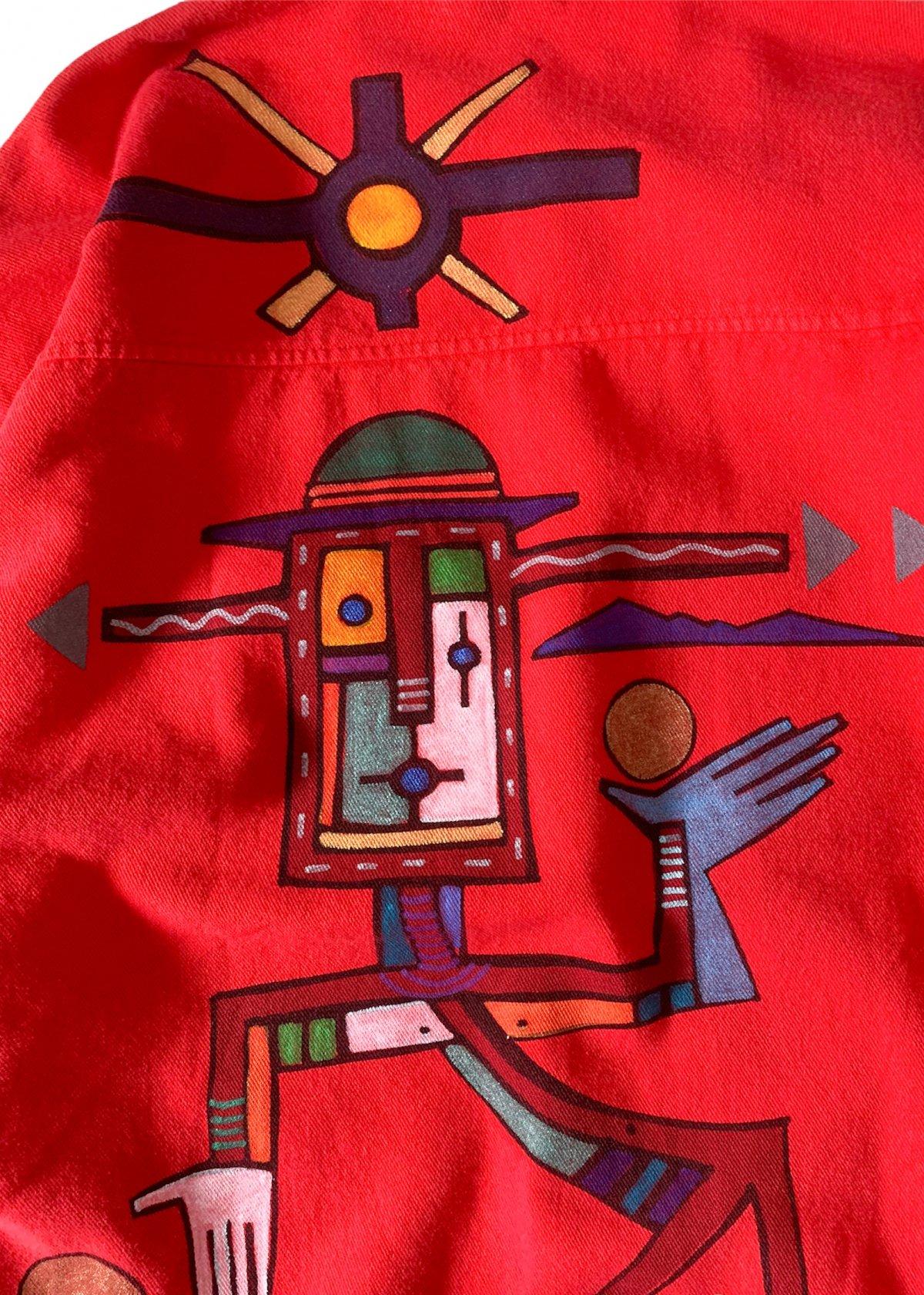 "I&I 古着 通販 ""WEK"" Hand Painted L/S Shirt 詳細画像7"