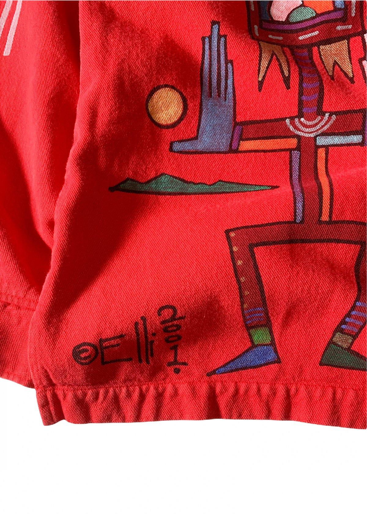 "I&I 古着 通販 ""WEK"" Hand Painted L/S Shirt 詳細画像8"