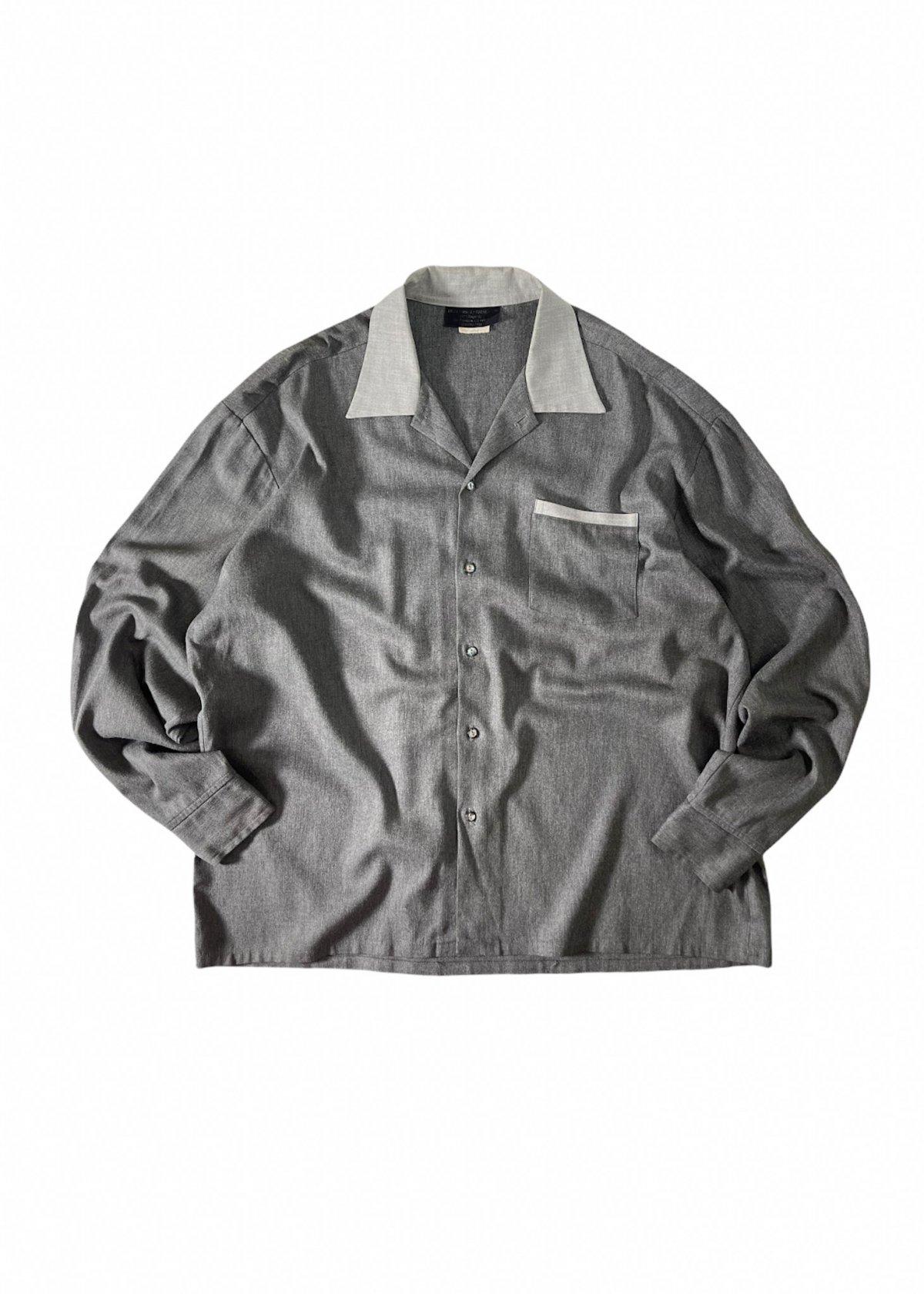 I&I 古着 通販 Vintage Wool Mix wide Shirt 詳細画像