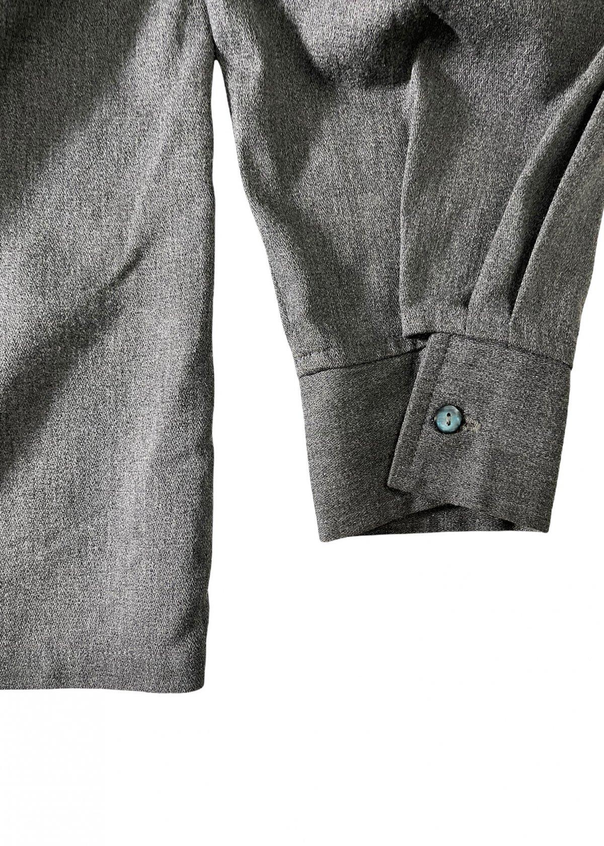 I&I 古着 通販 Vintage Wool Mix wide Shirt 詳細画像7