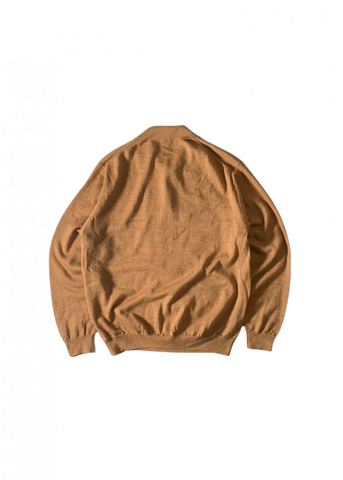 """I&I 古着 通販 """"LINEA UOMO"""" L/S Knit Polo Shirt 詳細画像6"""