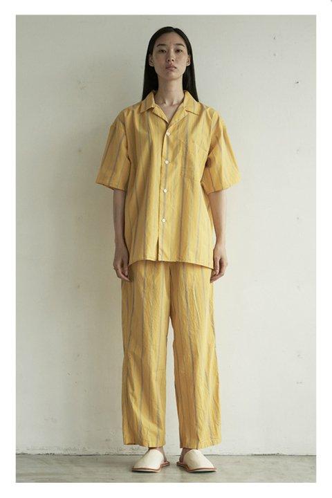 Cotton Silk Stripe Pajama Shirt