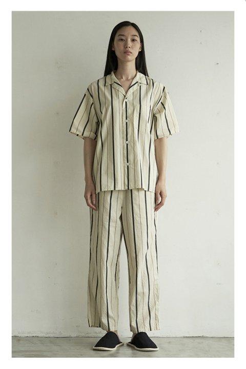 Cotton Silk Stripe Pajama Pants