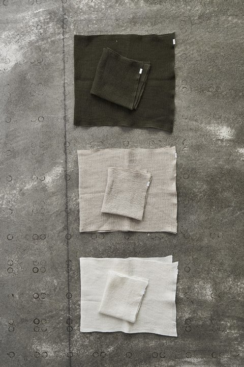 Linen Waffle Face + Hand Towels Set
