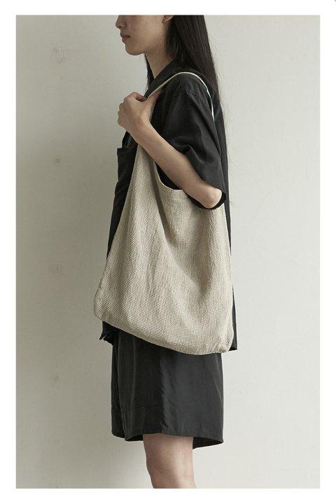 Linen Waffle Bag