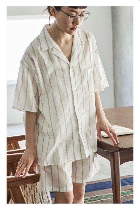 Khadi Cotton Short Sleeve Pajama Shirt