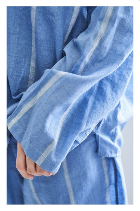 Khadi Cotton Long Sleeve Pajama Shirt