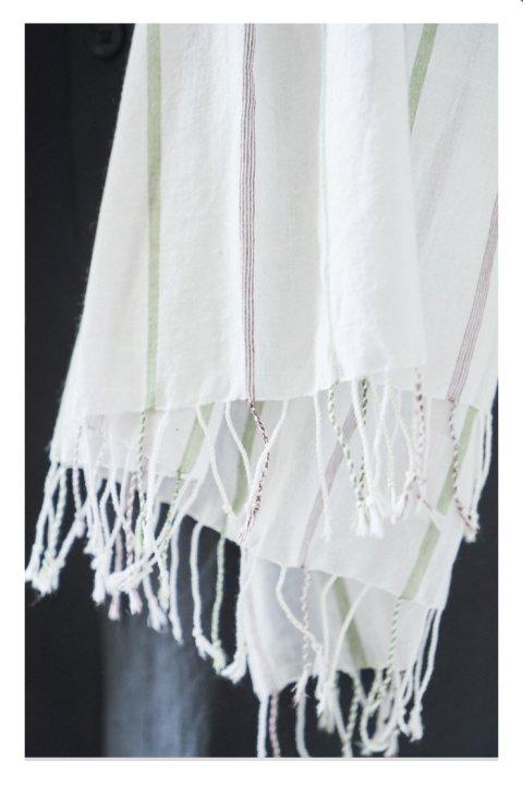 Khadi Cotton Stripe Stole